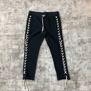 Lace up, dark blue, sweat pants from Pam & Gela